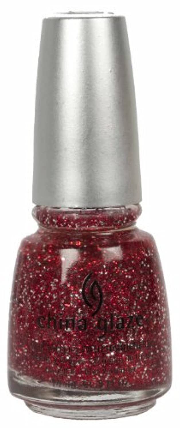 南極ステートメント仕立て屋CHINA GLAZE Glitter Nail Lacquer with Nail Hardner - Love Marilyn (DC) (並行輸入品)