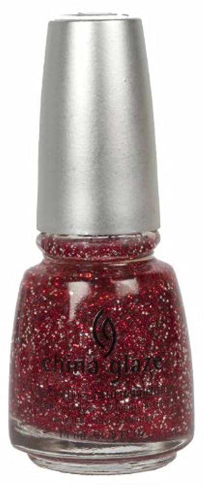 私の複雑対CHINA GLAZE Glitter Nail Lacquer with Nail Hardner - Love Marilyn (DC) (並行輸入品)
