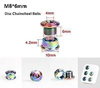 M8*6 GUB Colorful Titanium Alloy Bike Chainwheel Disc Bolts For MTB Road Bicycle CNC Crankset Crank Arm Bolt Chain Wheel Screws