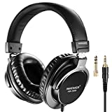 Neewer NW-3000 Closed Studio Headphones, 10Hz-26kHz Lightweight Dynamic Headsets with 3 meters Cable, 3.5mm and 6.5mm Plugs, Low Noise for Appreciating Music,Watching Movies,Playing Games,Recording