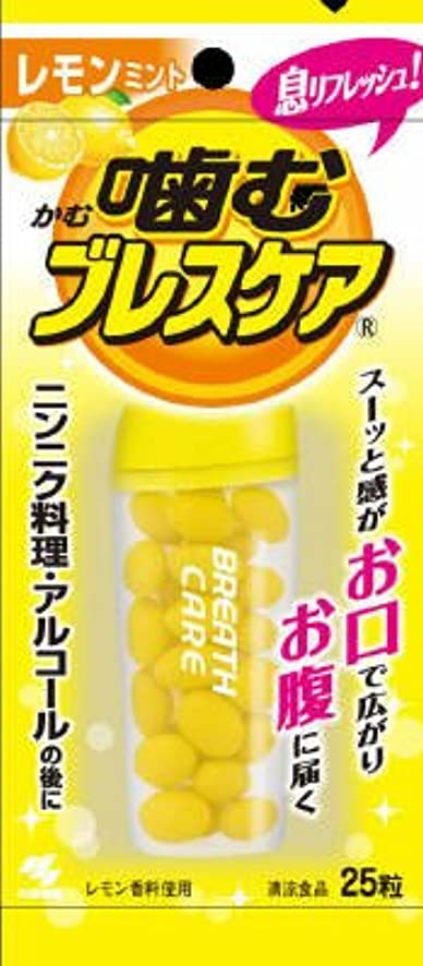地球どこでも列車小林製薬 噛むブレスケア レモンミント 25粒 ※口臭対策?エチケット食品×48点セット (4987072012888)