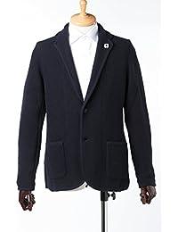 (ラルディーニ) LARDINI テーラードジャケット ニットジャケット ネイビー メンズ (IELJM29 IE49024) 【並行輸入品】【XS-ネイビー】