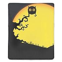 マウスパッド 防塵 耐久性 滑り止め 耐用 ゴム製裏面 軽量 携帯便利 ノートパソコン オフィス用 ゲーム用 (180*220*3mm) ハロウィンフクロウ