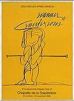 ポスター ヴァレリオ・アダミ Salpetriere 1980年 額装品 アルミ製ベーシックフレーム(ライトブロンズ)