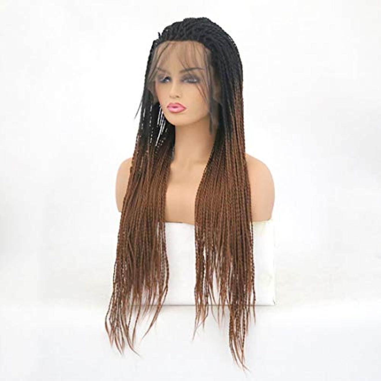 花輪意識的大胆なKerwinner ツイストブレイドかぎ針編みブレイドヘアエクステンション事前ループ女性用高温繊維