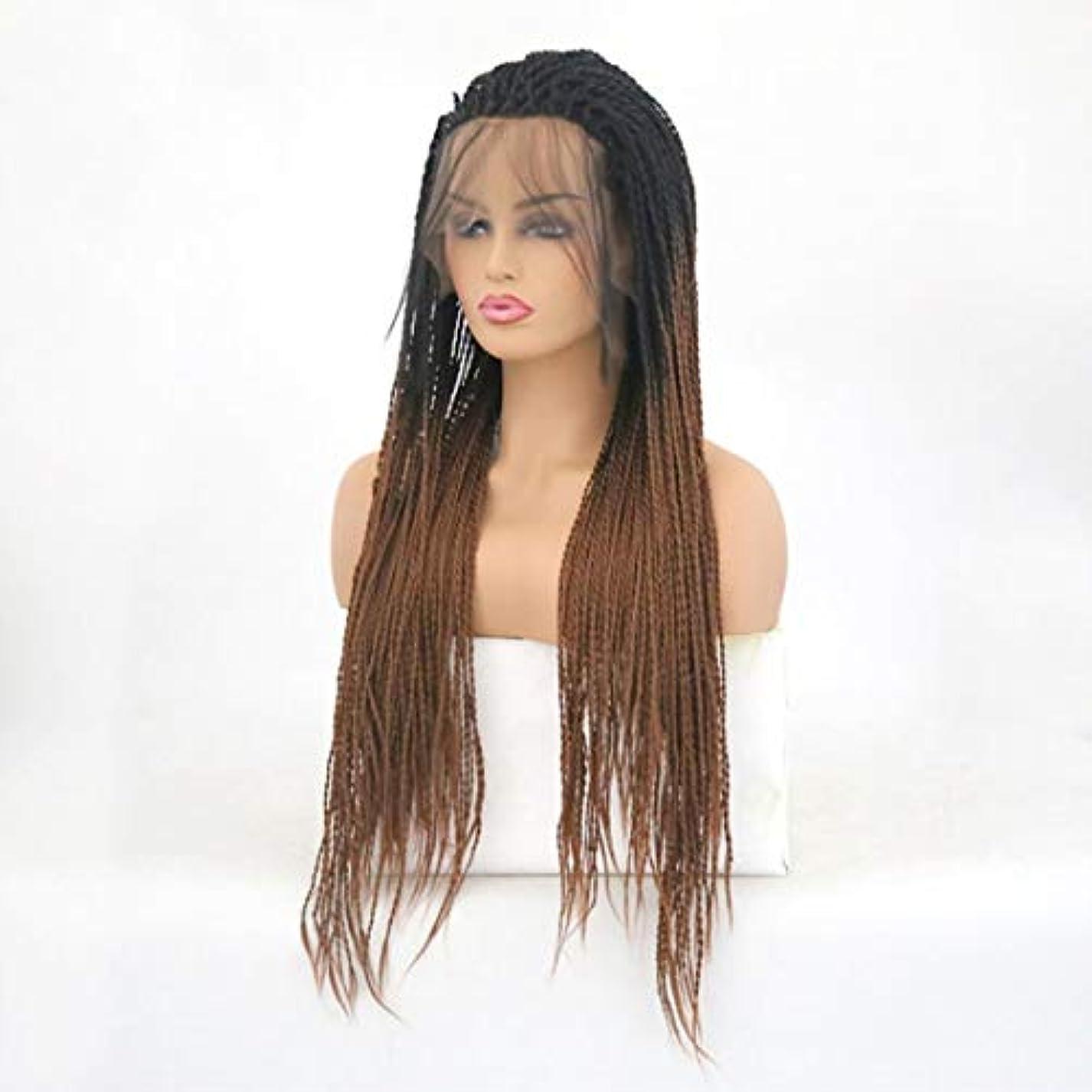 大使審判行方不明Kerwinner ツイストブレイドかぎ針編みブレイドヘアエクステンション事前ループ女性用高温繊維