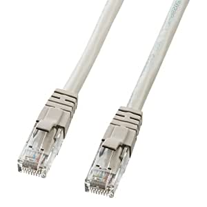 SANWA SUPPLY KB-T6L-006 カテゴリ6UTP単線ケーブル ライトグレー 0.6m