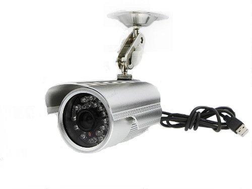 防犯カメラ(監視カメラ) マイクロSDカードに直接録画 赤外線LED24個内蔵 防水