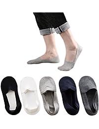 RICOCO 靴下 フットカバー 浅履きメンズソックス ビジネスソックス くるぶし 滑り止め付き 抗菌 防臭 吸汗 通気性抜群 四季適用 2-5足組 25-29㎝