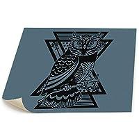 フクロウ 黒い パネル絵 風景画 壁キャンバス絵画 壁掛け お祝いやプレゼントに 芸術の絵画 軽くて取り付けやすい (58x48cm)