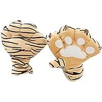 c.a.zレディースガールズPlush Cat Claw手袋Bear Paw指なし冬Plush Hand手袋