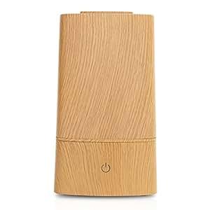 SUNRIZE サンライズ 加湿器 アロマ 卓上 タワー型 超音波 静音 大容量 LEDライト ミスト タッチセンサー おしゃれ エコ【PRESSE】 (ウッド)