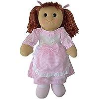Powell Craft Medium Rag Doll in Pink Gingham Dress - 40cm