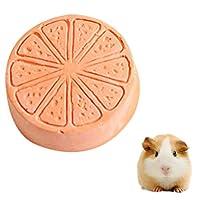 JIANGNIJP おもちゃ ペット·フルーツ·タイプ·カルシウム·ストーン·ハムスター·ウサギ小ペット歯歯磨き粉ペット·トレーニング·ツール (色 : オレンジ)