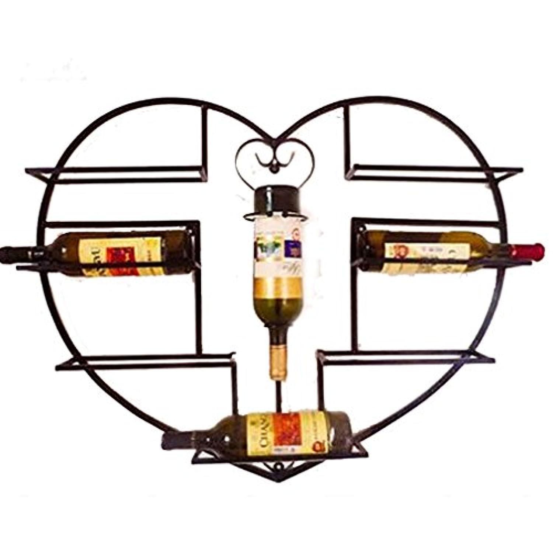 ウォールマウントされたワインラックガラスのゴブレットステムウェアラックは8本のボトルを保持するワインクリエイティブ装飾(サイズ:83 * 19 * 67センチメートル)