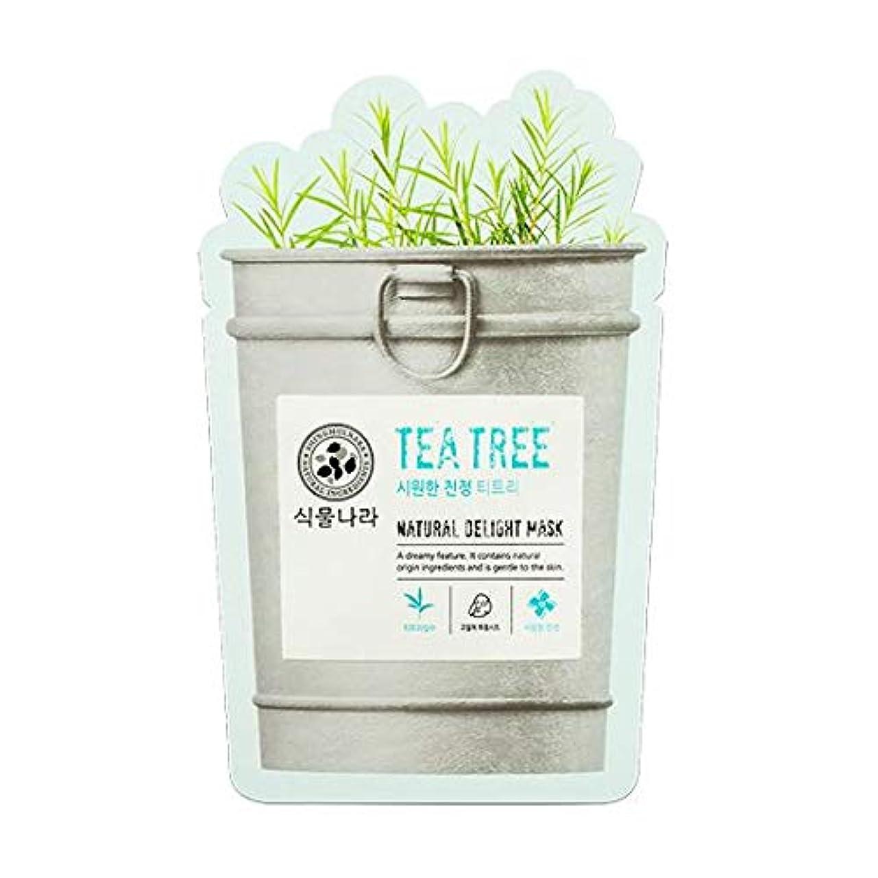 喉が渇いた恩赦ダーツSHINGMULNARA 植物ナラ ナチュラル デライト マスクパック ティートリ/アロエ/炭/蜜 韓国オリーブ霊遊明商品 (ティートリー (Tea Tree) 5pack)