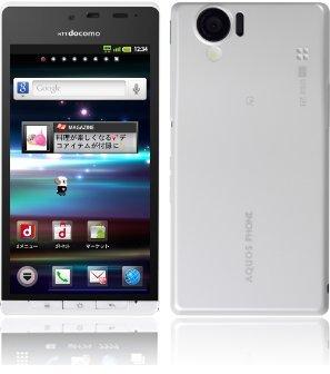 シャープ docomo with シリーズ AQUOS PHONE SH-01D ホワイト 白ロム