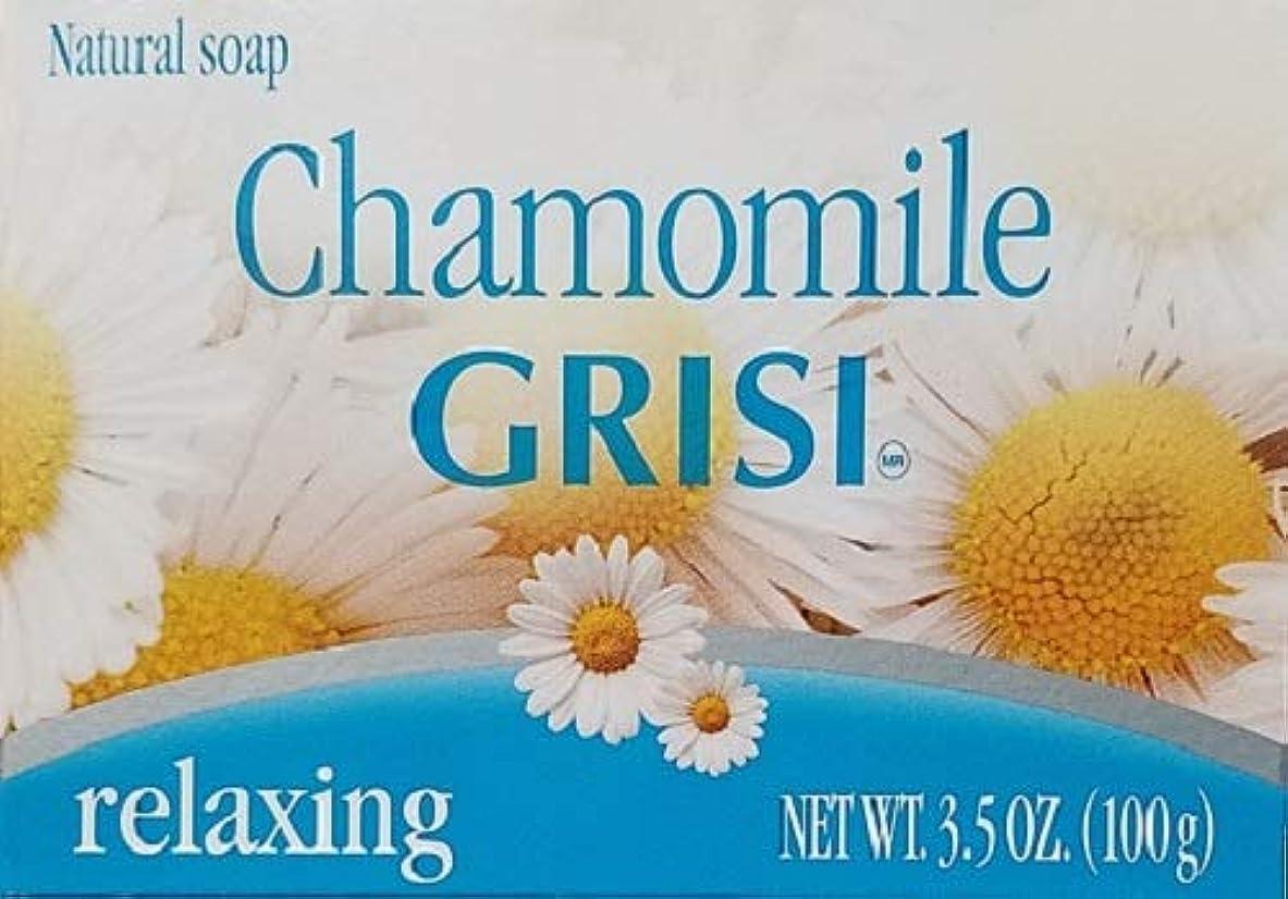 を通して素人不規則性Manzanilla Grisi 6PK - カモミールソープ - Jabonデマンサニージャ - Grisi(3.5オンスX 6単位)。