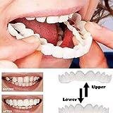 4PCS上下のインスタントスマイルコンフォートフィットフレックス化粧品の歯の歯のトップ化粧品のベニヤ[エネルギークラスA]