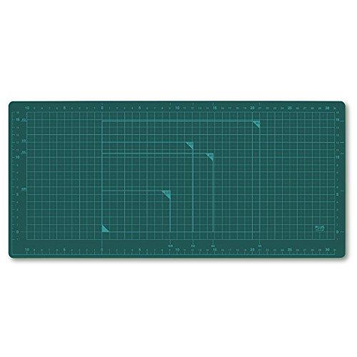 プラス カッターマット 両面 A4ワイド 210×450mm グリーン 48-577