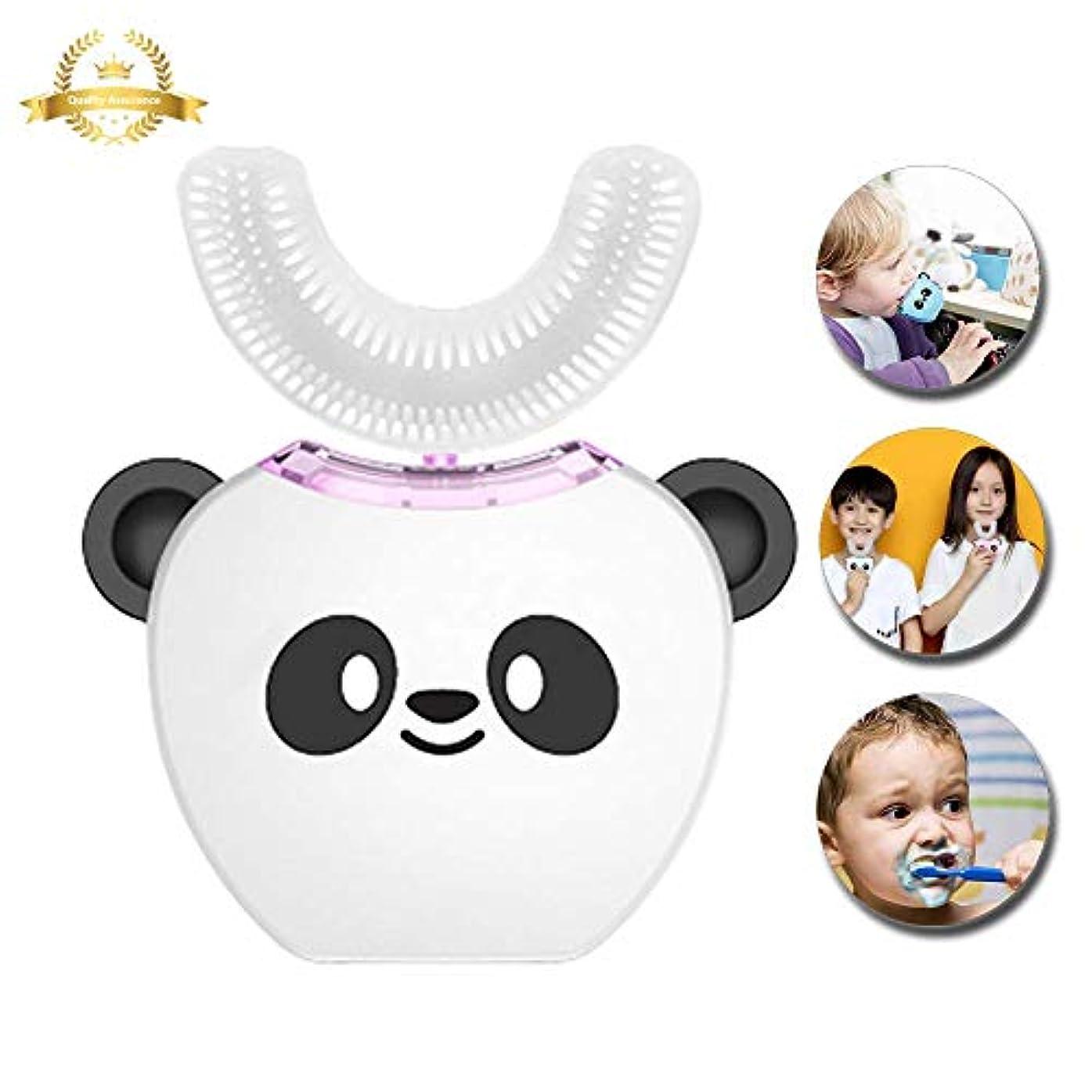何か写真の不定V-white 電動歯ブラシ こども用 超音波振動360°オールラウンドクリーニング、充電式 (ホワイト)