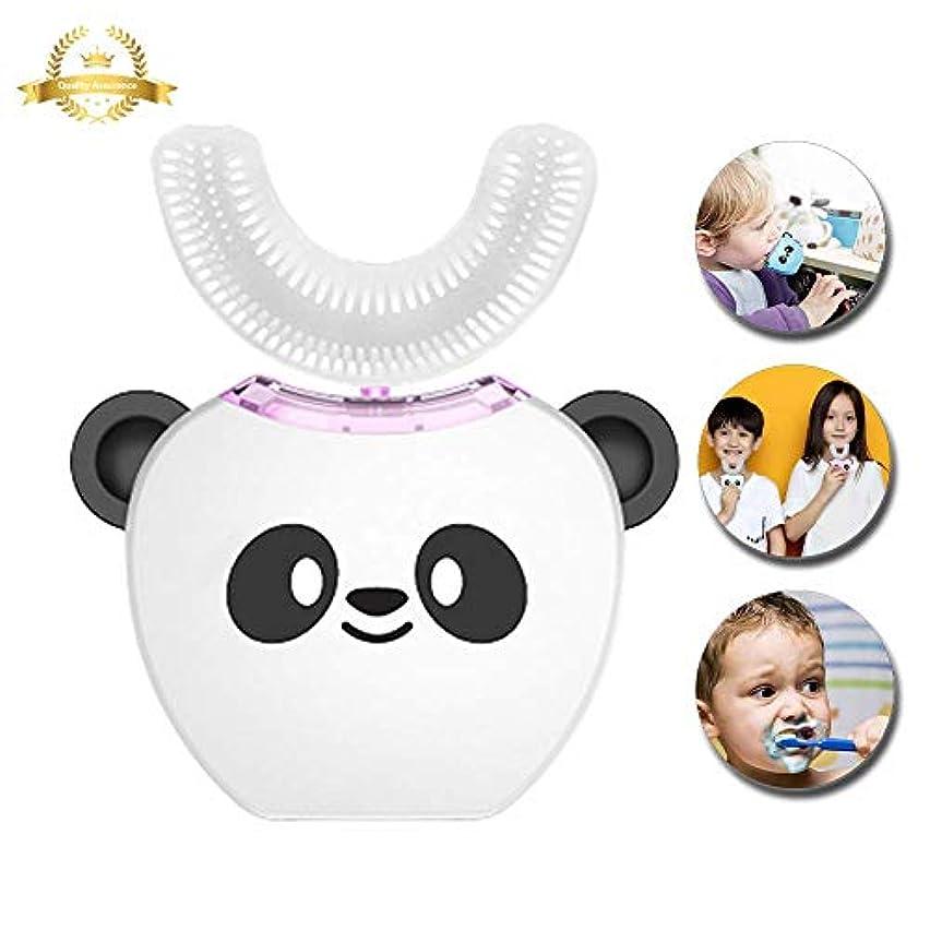 タッチ角度大脳V-white 電動歯ブラシ こども用 超音波振動360°オールラウンドクリーニング、充電式 (ホワイト)