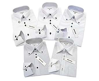 (ビジネスマンサポート)BUSINESSMAN SUPPORT ba 3L-スマート 5枚セット ワイシャツセット ボタンダウン ホリゾンタル デザイン