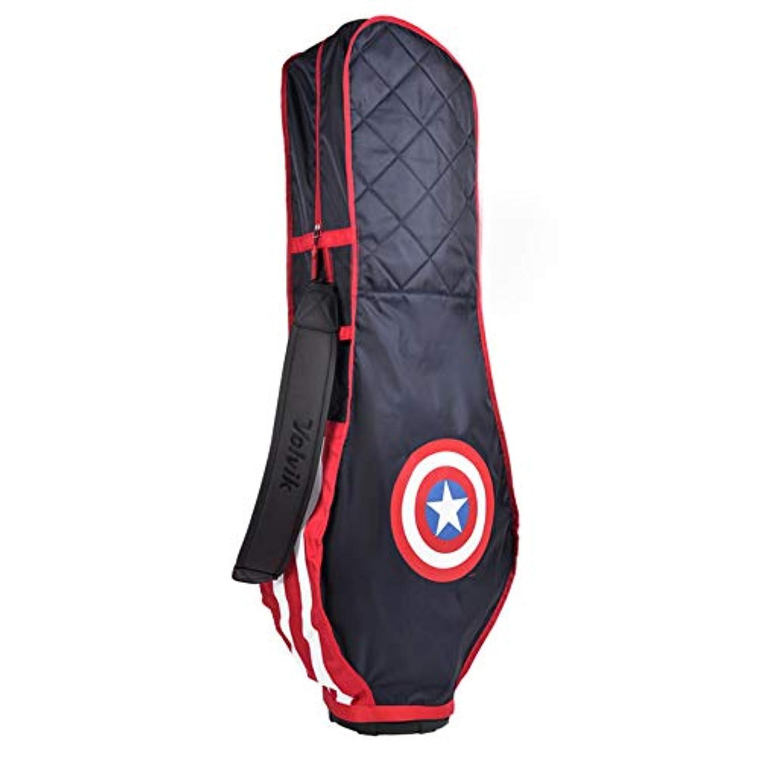 不健全引き潮施設Volvik X Marvel Heroes ゴルフバック トラベル カバー キャディバッグ 保護カバー 旅行 航空 輸送用 カバー 折り畳み式/キャプテン・アメリカ [並行輸入品]