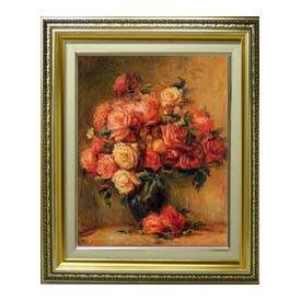 ルノワール Bouquet of Roses ばら F6 油絵直筆仕上げ| 絵画6号 554×463mm 複製画 ゴールド