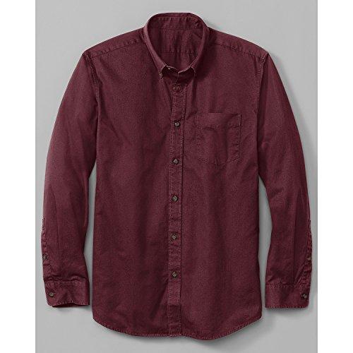 (エディー・バウアー) Eddie Bauer 長袖シグネチャーツイルロゴボタンダウンシャツ(ホワイト XL)
