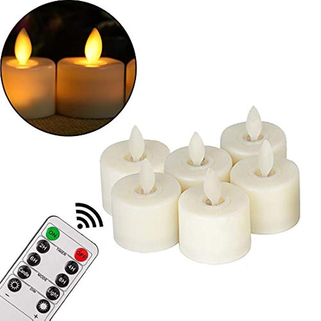 全国ライトニング美しいFlameless Candles、電池式ティーライトBlukフリックLED Tealightsで暖かいホワイトウェディング、クリスマス、誕生日party-6パック