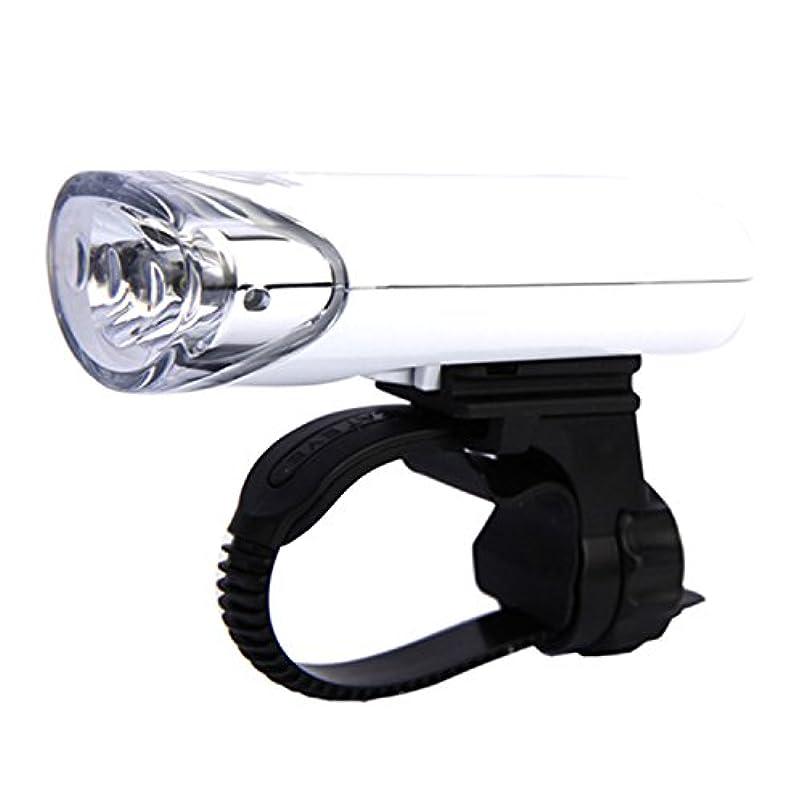 造船窓平等LULUFUN 自転車ライト 高輝度LEDヘッドライト 取り付け簡単 前照灯 乾電池式 軽量 コンパクト 点灯?点滅2モード マウンテンバイク?ロードバイク?自動車 夜間 黒/白