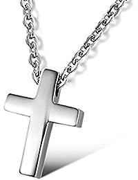 CLY STYLE シンプル クロス 十字架 スモールペンダント レディース ネックレス サージカルス テンレス316L 金属アレルギー対応 シルバー