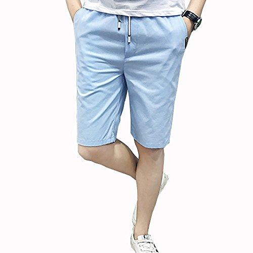 EIMEI メンズ ショートパンツ ドライフィット 吸汗速乾 Cool ドライ 夏服 夏物 五分丈 ハーフパンツ お兄系 無地 短パン 大きいサイズあり M~5XL (5XL, ライトブルー)