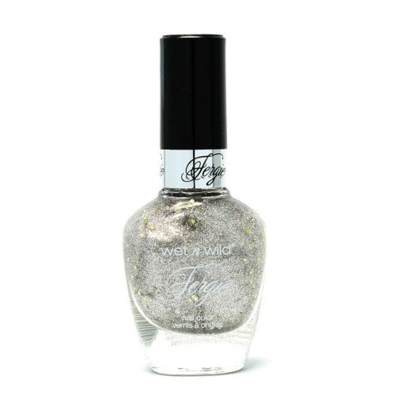 薄い陰謀焼くWET N WILD Fergie Heavy Metal Nail Polish - Titanium Crush (DC) (並行輸入品)