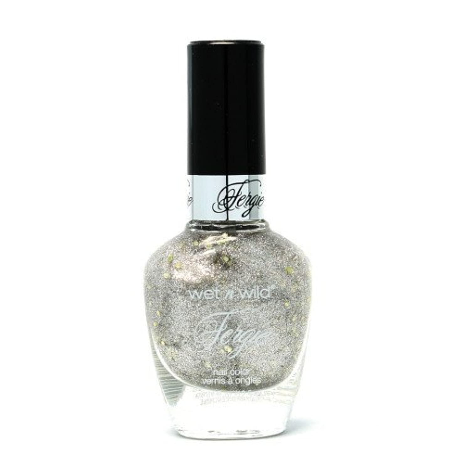 貧困役員色WET N WILD Fergie Heavy Metal Nail Polish - Titanium Crush (DC) (並行輸入品)