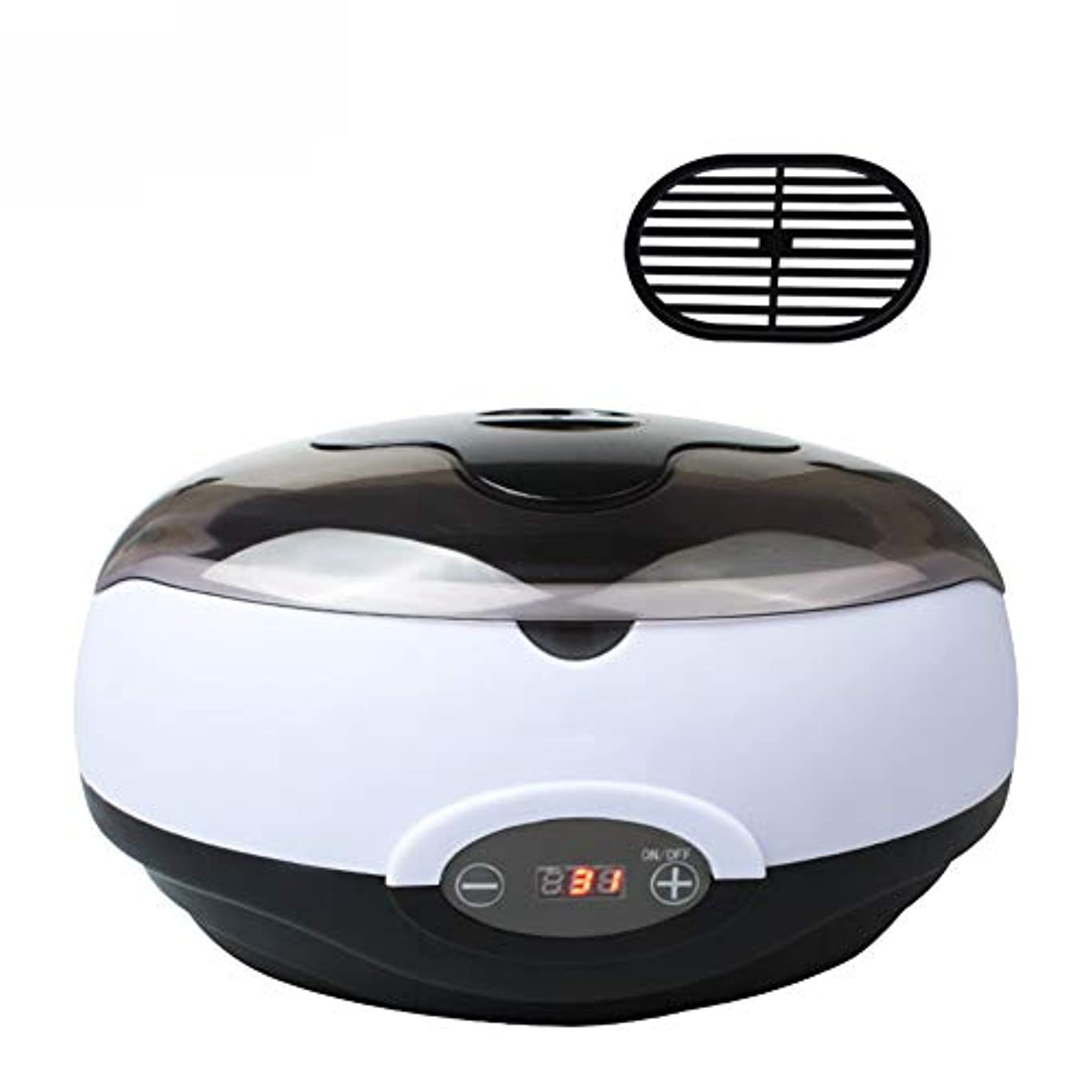 シャーク変換シマウマ保湿パラフィン浴電気2.8Lポットヒーター電気ホットパラフィンワックスウォーマースパバスLCD温度表示用固体ワックスブロック