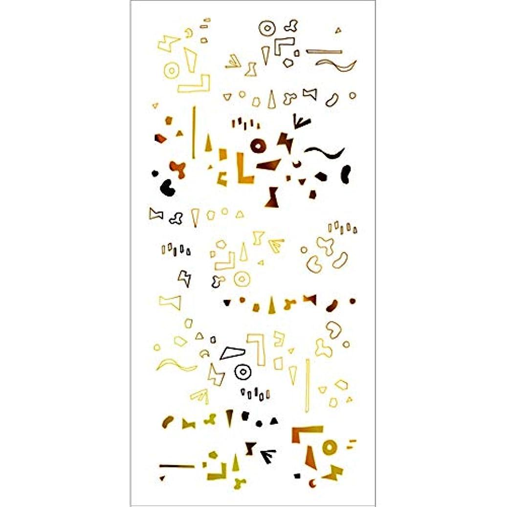 対称合唱団更新するツメキラ(TSUMEKIRA) ネイル用シール カタチの群れ ゴールド SG-HOK-102