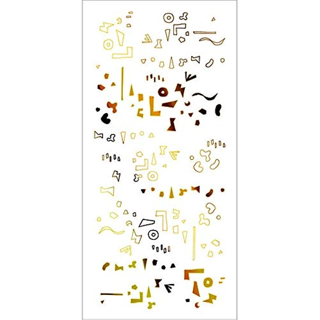 右規模ストリームツメキラ(TSUMEKIRA) ネイル用シール カタチの群れ ゴールド SG-HOK-102