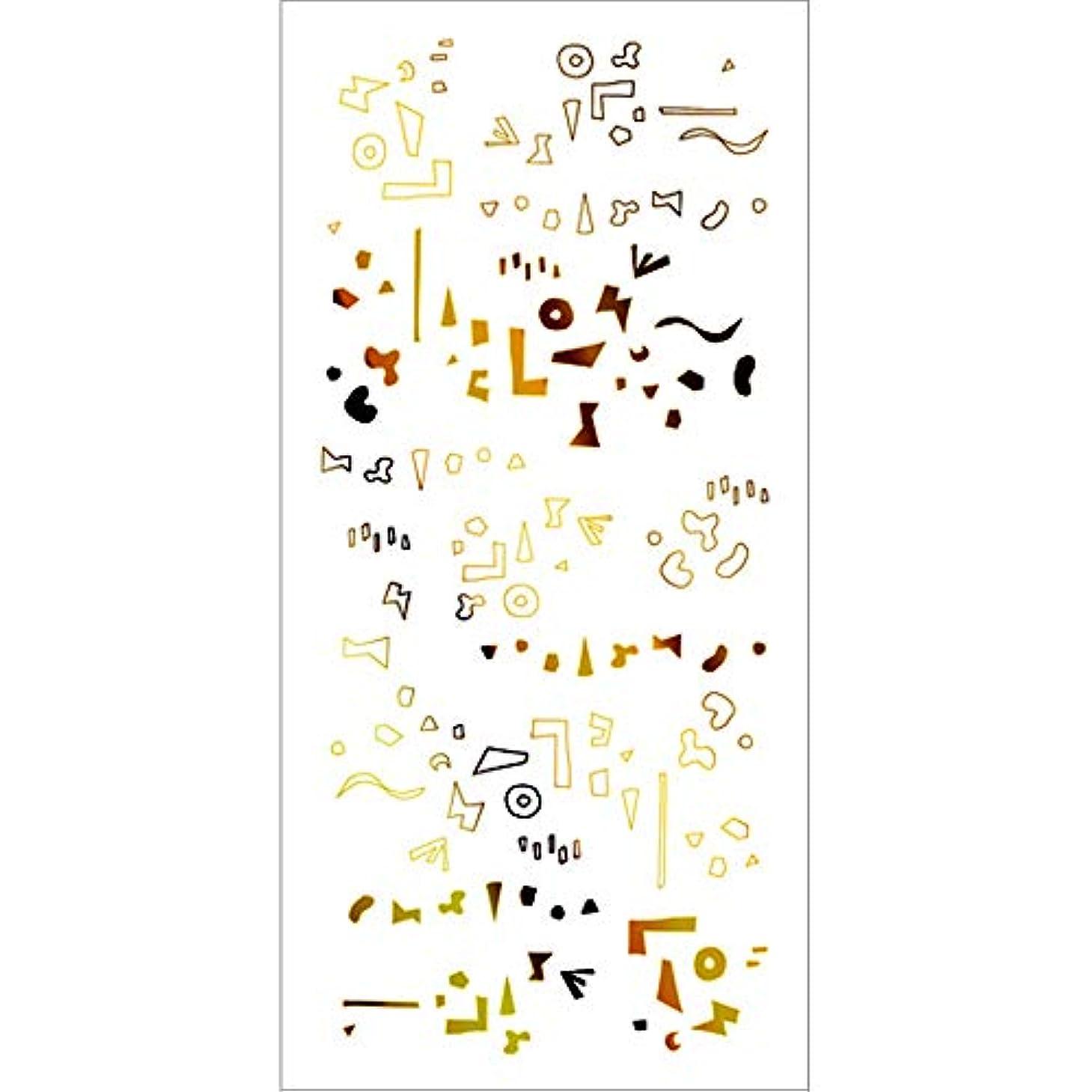 セラー権利を与えるパッドツメキラ(TSUMEKIRA) ネイル用シール カタチの群れ ゴールド SG-HOK-102