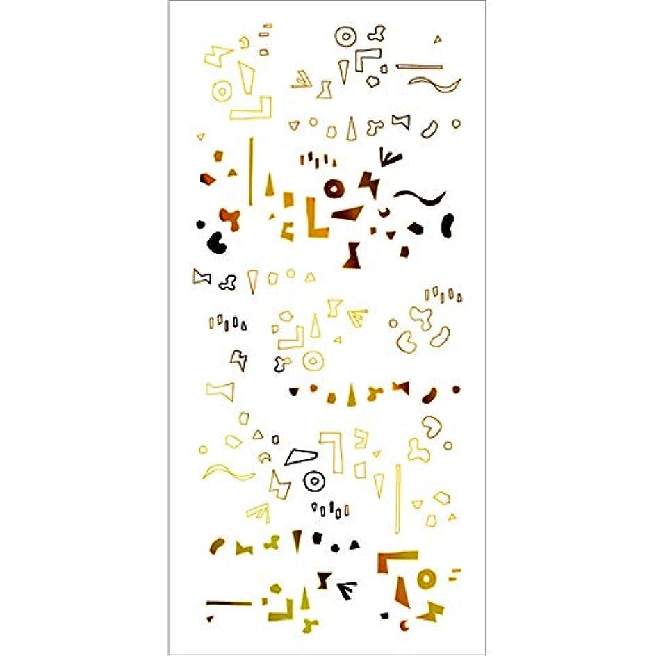 ゴム水を飲む番号ツメキラ(TSUMEKIRA) ネイル用シール カタチの群れ ゴールド SG-HOK-102