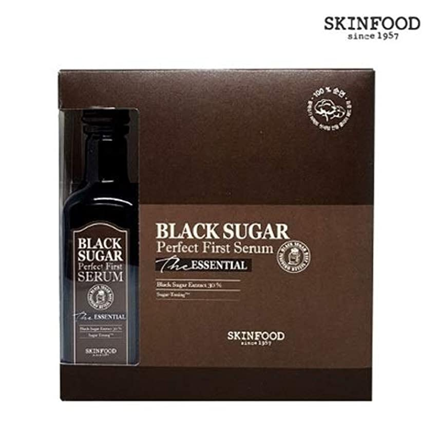 はぁ薄める口実Skin foodスキンフードブラックシュガーパーフェクト最初血清 (専用化粧綿60枚を含む)