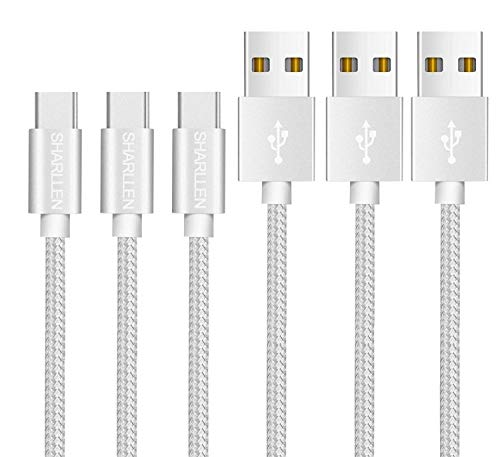 USB Type C ケーブル 【1.8mx3本セット】 タイプCケーブル 3.0A急速充電&5Gbps高速データ転送 QuickCharge3.0対応 USB-Cケーブル Sony Xperia XZ/XZ2, Samsung Galaxy S9/S8/A3/A7/A9/C5/7pro/C9, Macbook Pro, Nexus 5X/6P, GoPro Hero 5/6 などのType-C機器対応 [SHARLLEN]