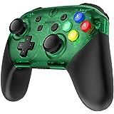 Nintendo Switch Proコントローラー置換ケース 代わりケース 外殻カバースキンケース 任天堂 コントローラー 保護 手触り心地よい FPS PRO ティック4色ボタン付き (グリーン)