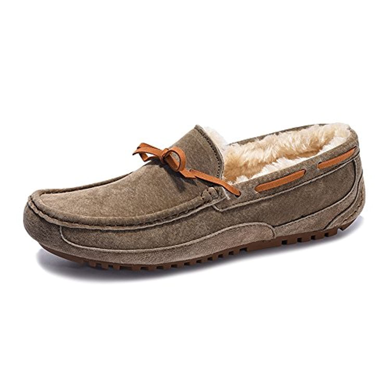 意気消沈した人絡み合いshoesway ボア ドライビングシューズ モカシン スエード スリッポン ローファー メンズ シューズ カジュアル 軽量 通勤 保温 防寒 暖かい 男性 靴 紳士靴