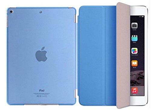 iPad iPad2 / iPad3 / iPad4 case ケース PUレザー スタンド機能 エッジプロテクター 通気性いい クリアケース iPad iPad2 / iPad3 / iPad4 case ケース アイパッド TYEC-152926 ブルー