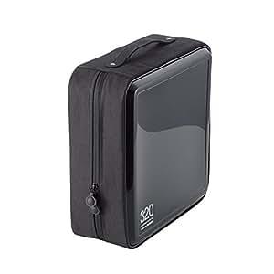 エレコム DVD CDケース セミハード ファスナー付 320枚収納 ブラック CCD-H320BK