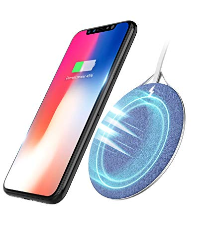 Qi 急速 ワイヤレス充電器 iPhone X/iPhone 8 / 8 Plus/Android Qi対応機種 呼吸ランプ付き