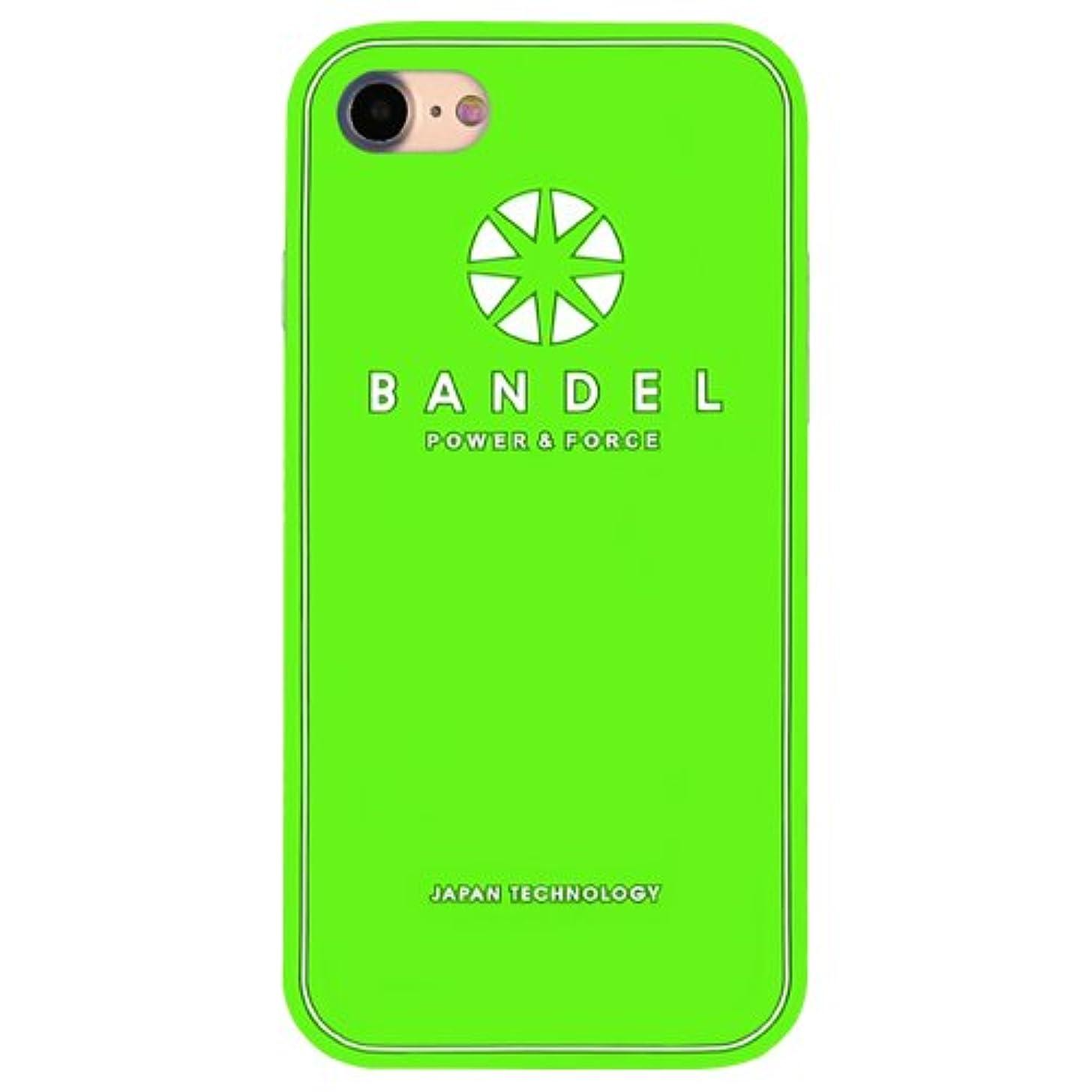 ソブリケット主導権深さバンデル(BANDEL) ロゴ iPhone 8 Plus専用 シリコンケース [グリーン×ホワイト]