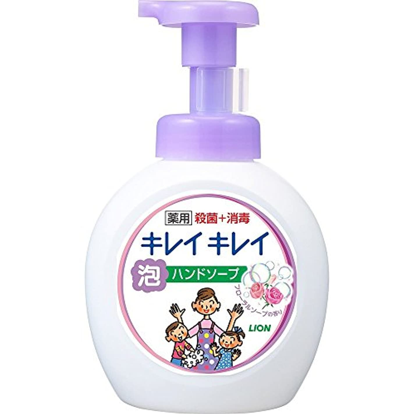 川同化犠牲キレイキレイ 薬用 泡ハンドソープ フローラルソープの香り 本体ポンプ 大型サイズ 500ml(医薬部外品)